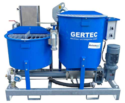 Gertec IS-38-E Colloidal Mixer isolated on white background
