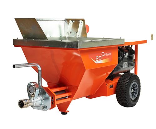 Optimix 20 5,5 kw spraying machine isolated on white background