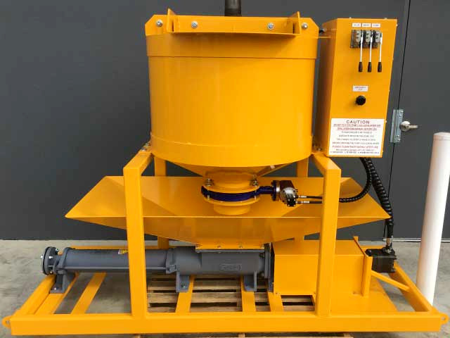 Brand New WAGS Engineered Yellow Continuous Grout Machine ready for collection at depot